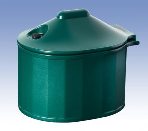 Domestic Grit Salt Bin Green